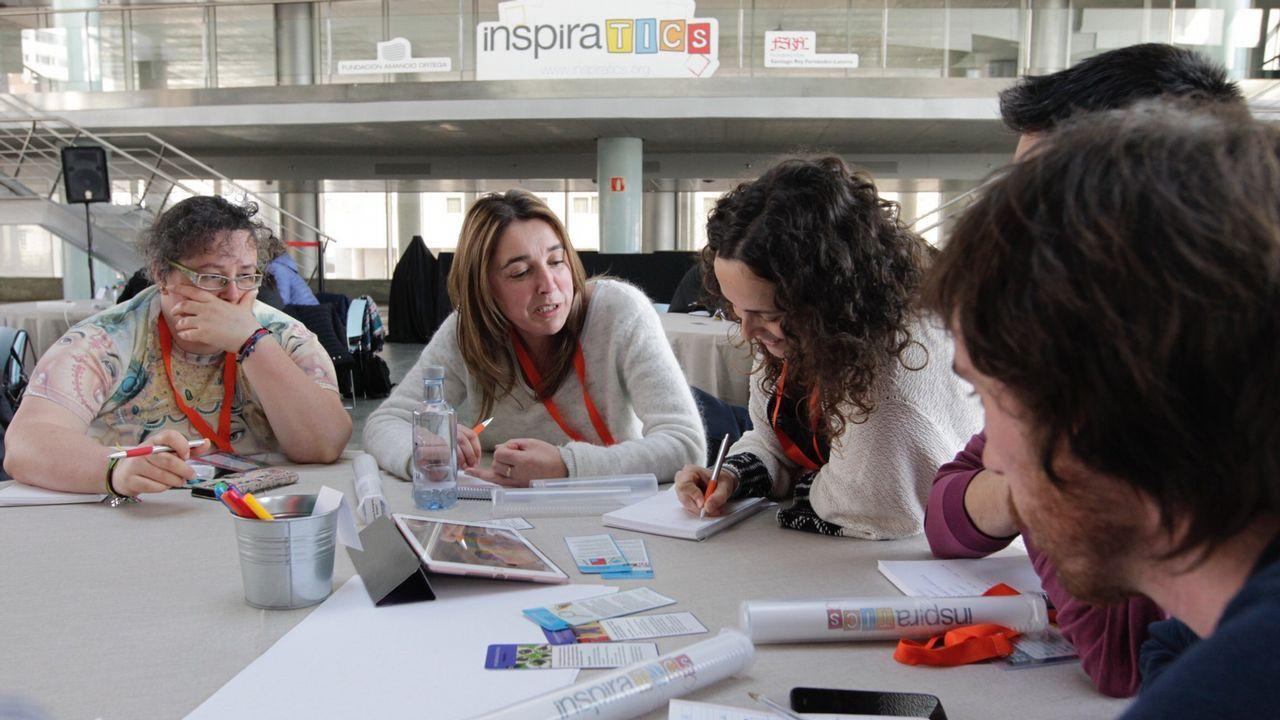 Comienza el derribo en la nave de Cordelerías del Mar.Las nuevas técnicas de paisajes de aprendizaje despertaron el interés entre los doscientos profesores de Galicia que participaron en el encuentro celebrado en esta ocasión en Vigo