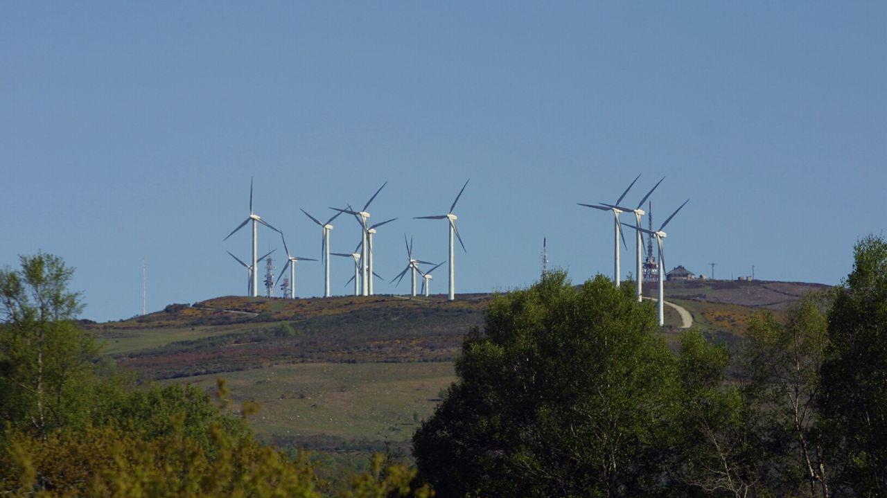 Imagen de archivo de un parque eólico