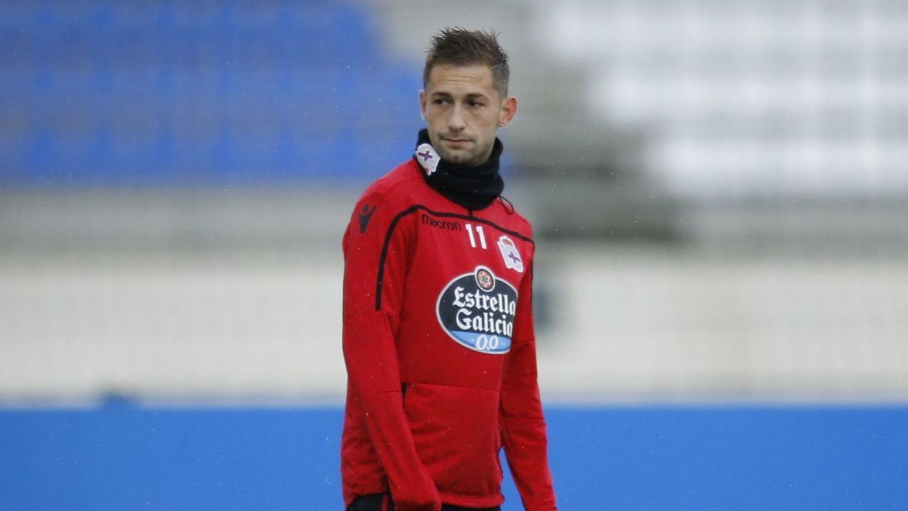 Lo mejor del Granada - Deportivo, en imágenes.Los jugadores del Deportivo, durante un entrenamiento en el estadio