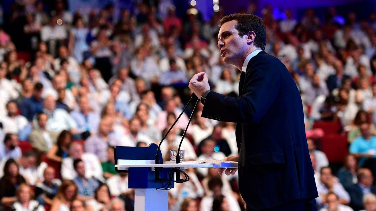 Intervención de Pablo Casado ante el plenario del Congreso del PP