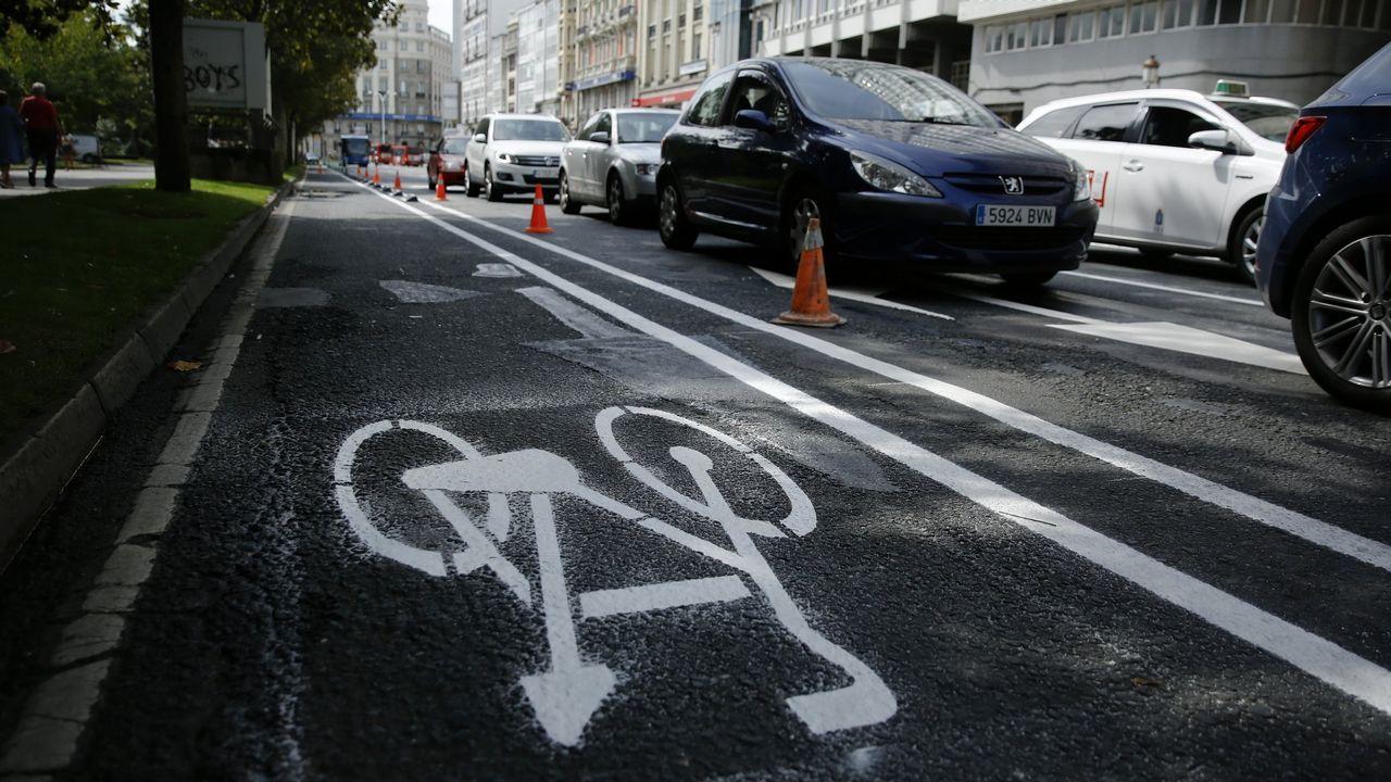 Tailandia.Implantación del carril bici en el centro de A Coruña
