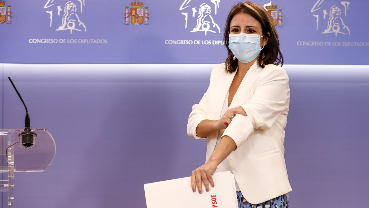 El portavoz parlamentario de Unidas Podemos, Pablo Echenique, este martes, en el Congreso