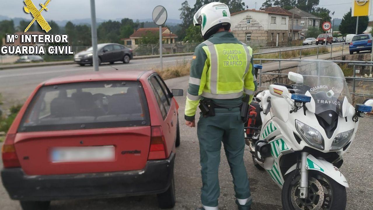 La nueva PO-308 entre Portonovo y Major.La Policía Local de Gijón controla las calles