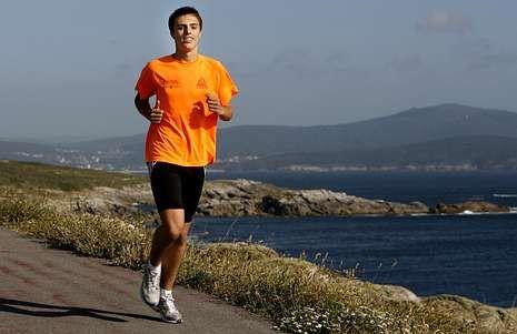 El atleta cormelán Fran Rodríguez Bugallo ha vuelto a destacar en el campeonato gallego.