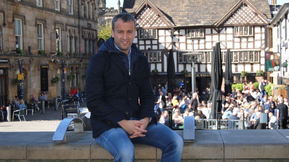 «En el City siguen una metodología que me encanta».Ángel Esmorís, a pesar de pertenecer al Manchester City, está cedido en el Mallorca.