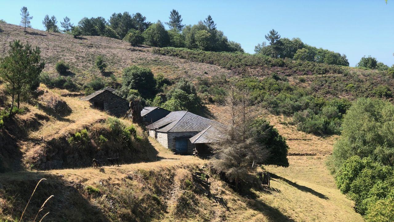 Una de las aldeas compradas en conjunto, en la Ribeira Sacra, con cinco casas, por 140.000 euros