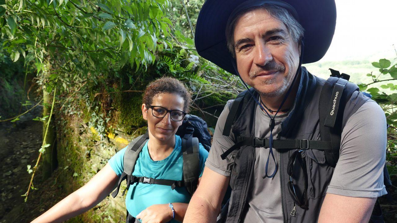 Alberto y Ana llegando a Samos