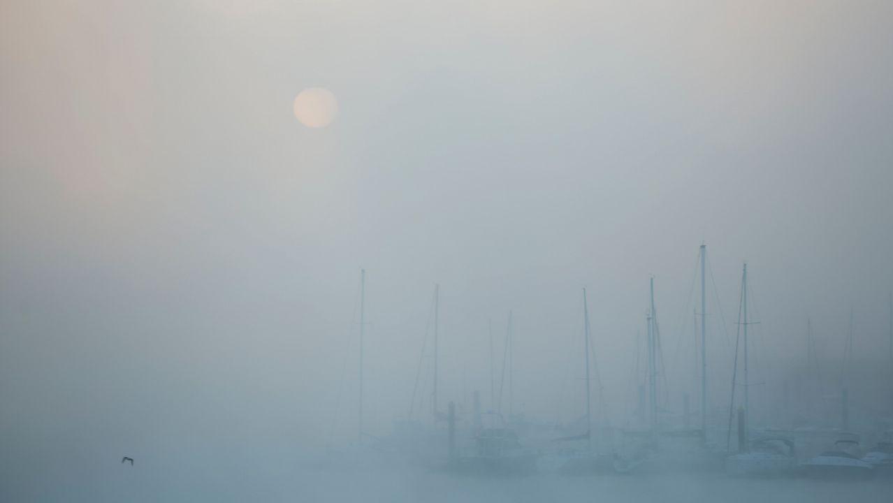 Niebla en A Coruña