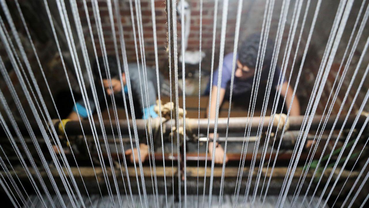 Imagen de archivo de un taller textil