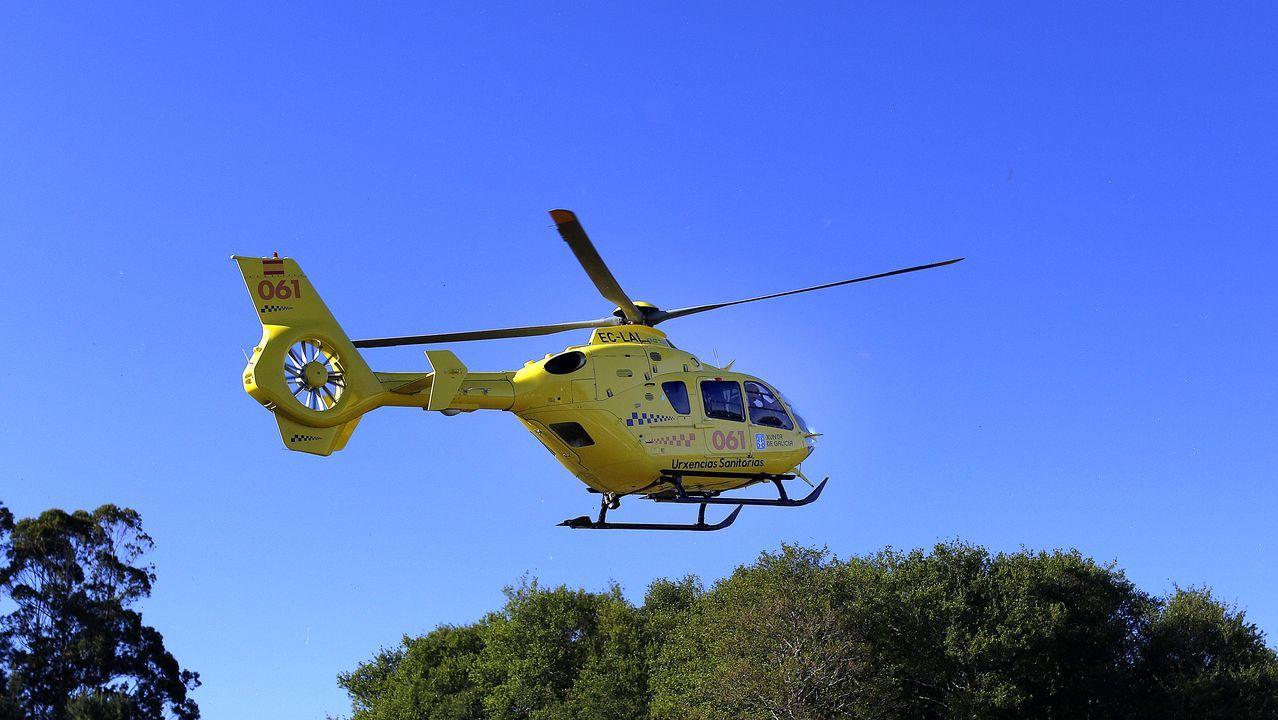 El helicóptero del 061, en una foto de archivo