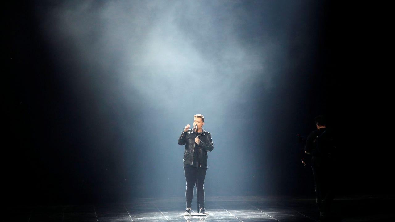 Netta Barzilai, de Israel.Michael Rice, representante del Reino Unido, en Eurovisión