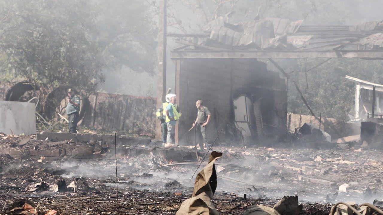 Así está la zona de la explosión en Tui