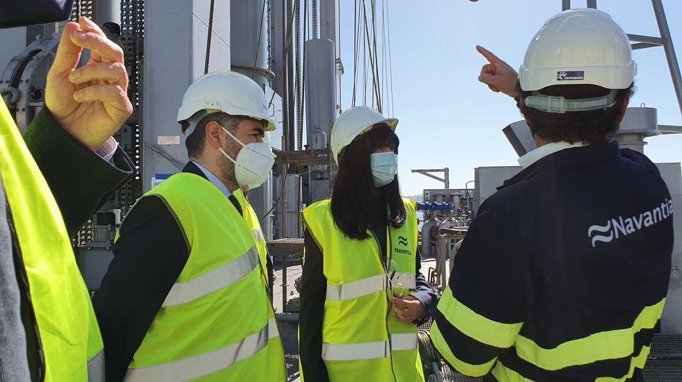 El Sea Cloud Spirit, de estreno.Belén Gualda, ahora presidenta de SEPI, en su visita a Navantia Ferrol