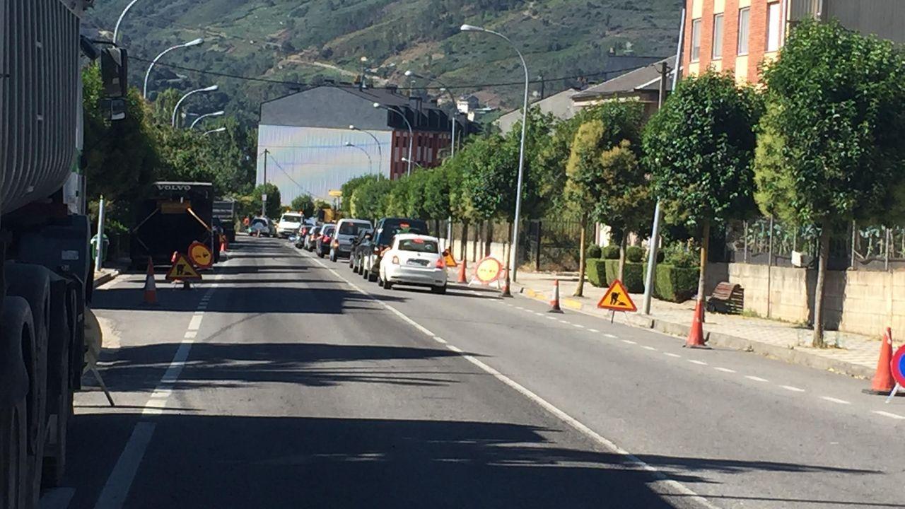 Imagen de un trama de la avenida del Bierzo