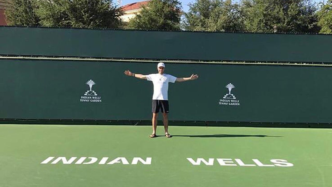 Daniel de Lorenzo, en las pistas de Indian Wells, California