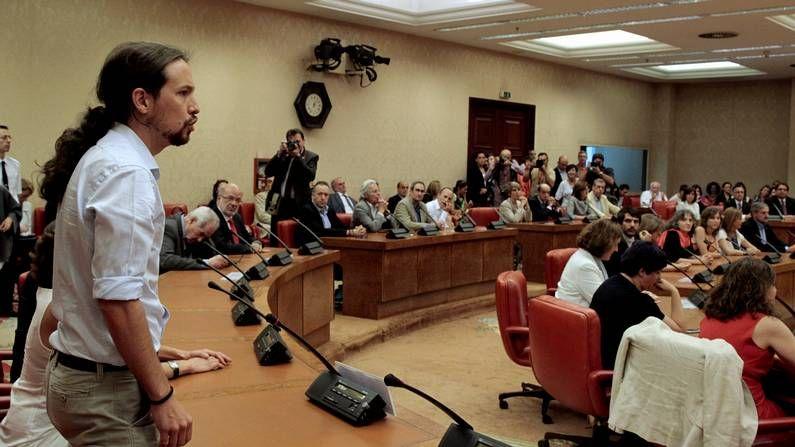 Pablo Iglesas, en el acto de acatamiento de la Constitución