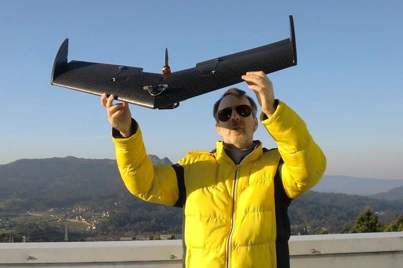 El dron de la Universidade de Vigo tiene un alcance de 16 kilómetros.