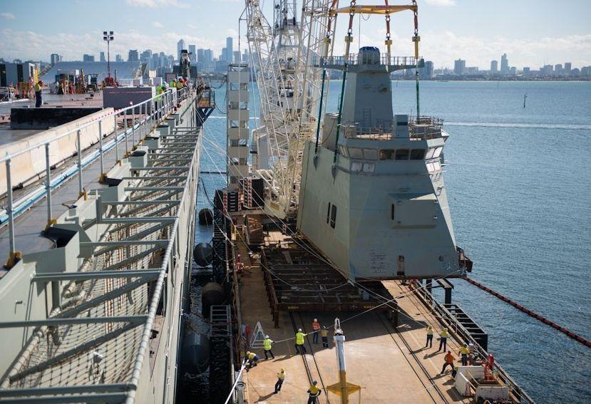 Navantia colaboró en Australia en las tareas de culminación de los dos megabuques.