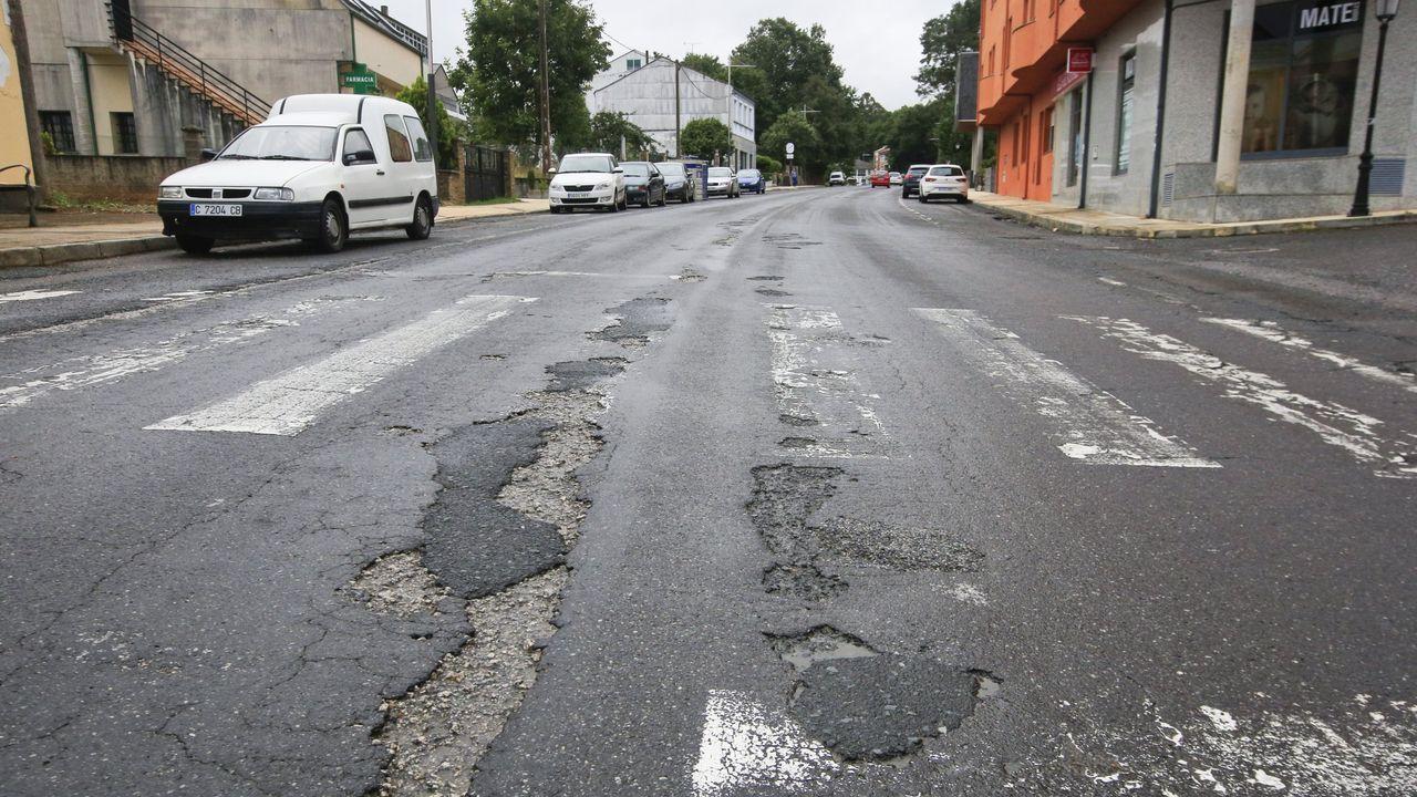 Imagen de la carretera N-540 a su paso por el municipio de Guntín