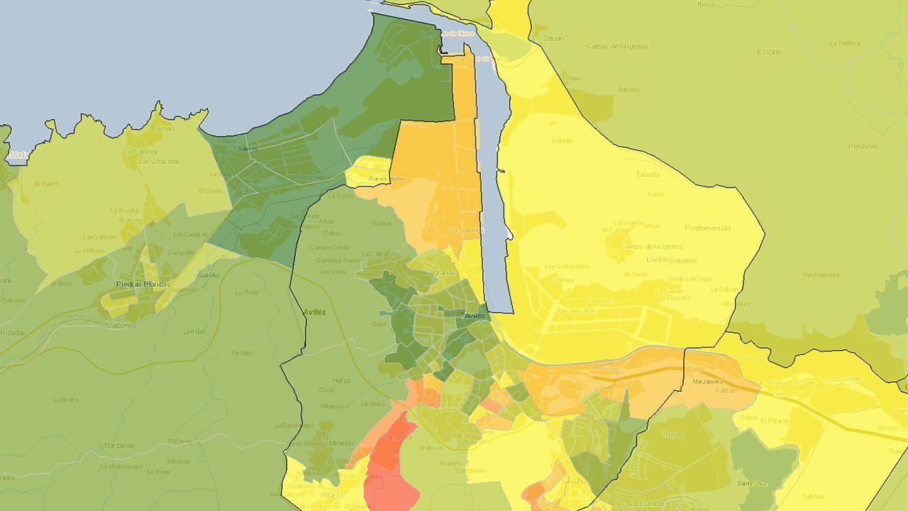 Atlas de Distribución de Renta de los Hogares en el área de Avilés