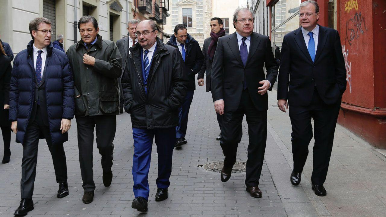Encuentro de los presidentes de Asturias, Galicia, Aragón y Castilla y León
