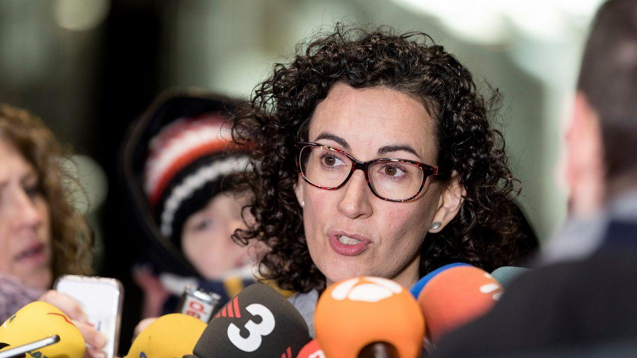 Rovira visita a Junqueras y los exconsellers presos en Estremera