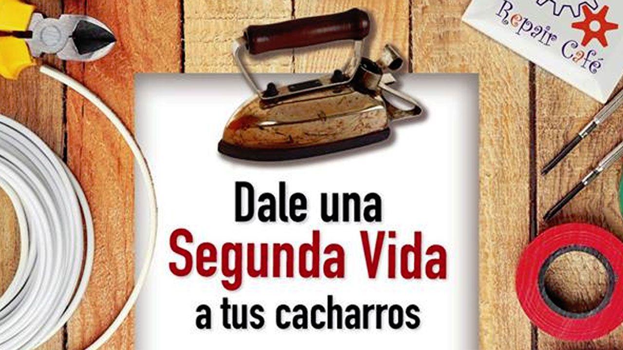 Cartel anunciador del 'Repair Café' en La Revoltosa