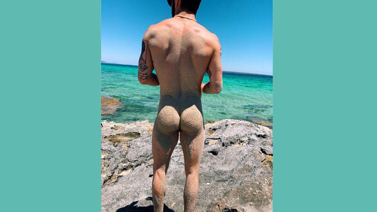 Desnudo de Pelayo Díaz en Instagram