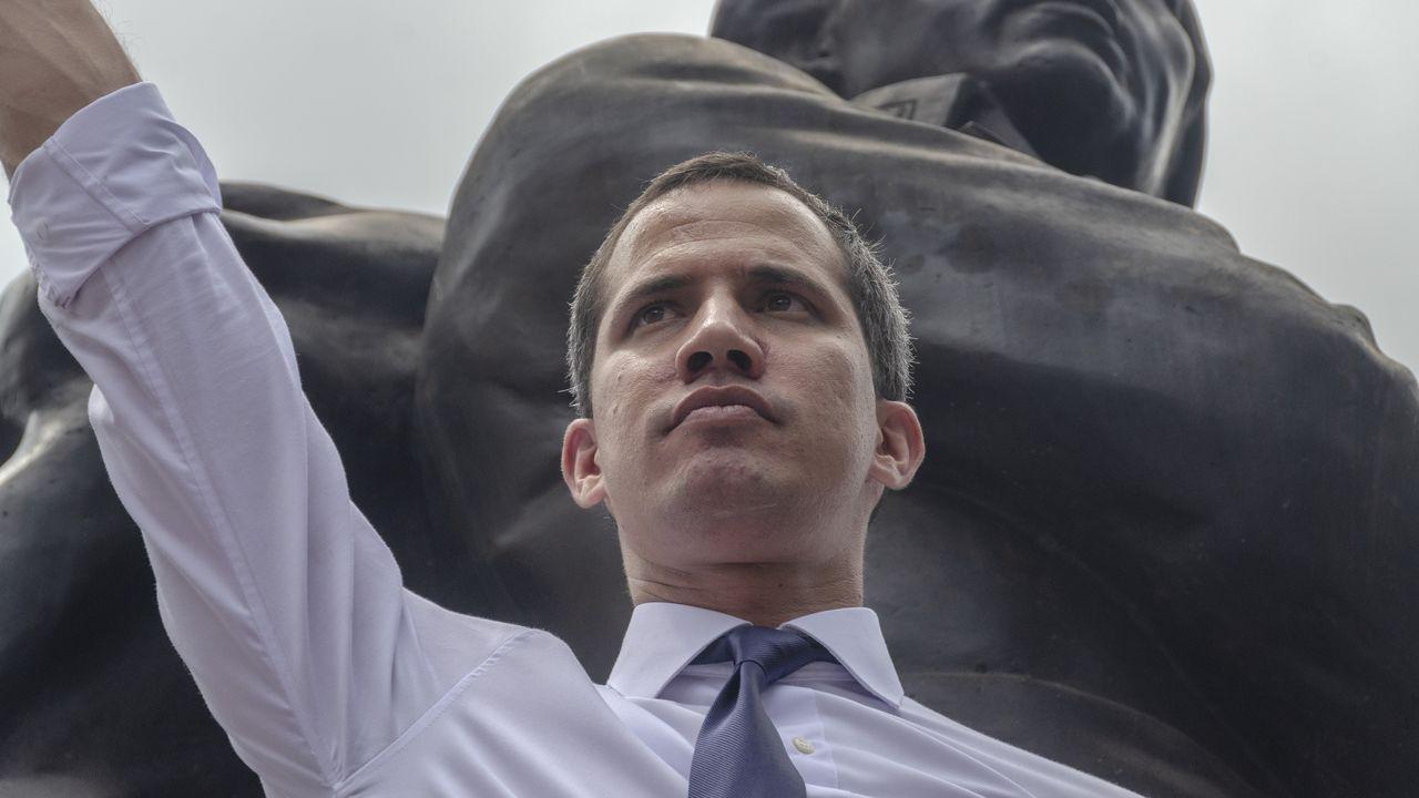 El «presidente encargado de Venezuela Juan Guaidó durante un acto en la conmemoración del día de la Independencia