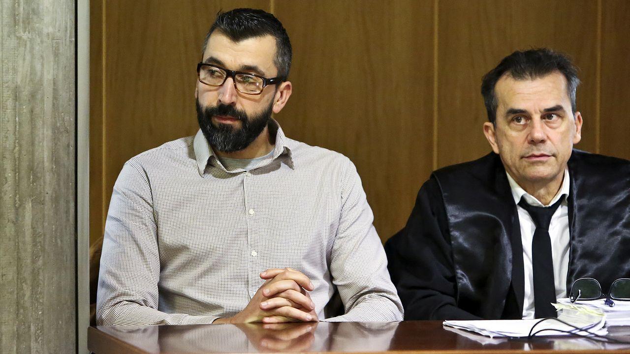César Adrio, acusado del asesinato de Ana Enjamio, durante el juicio