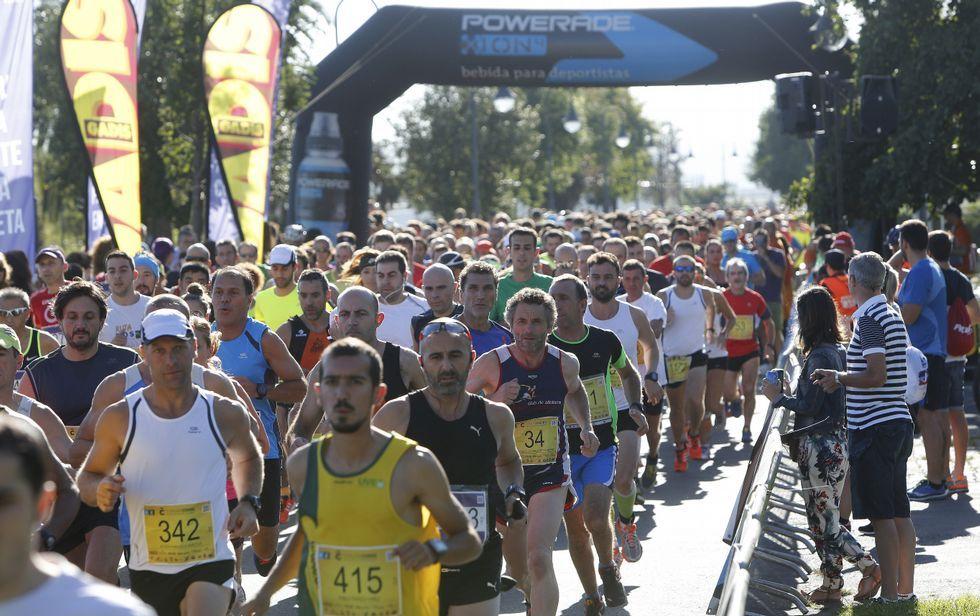 La carrera partió de San Diego y pasó por los parques de Oza y Eirís.