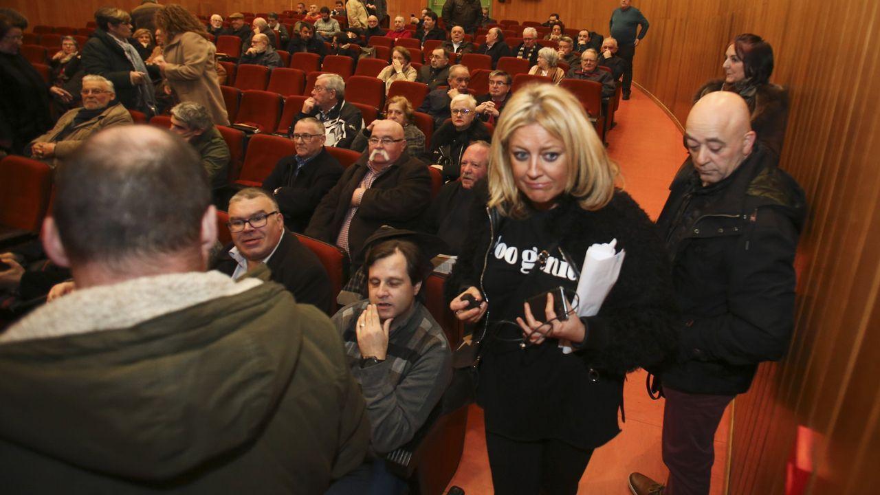 Sestayo, durante una asamblea del PSOE en Ferrol