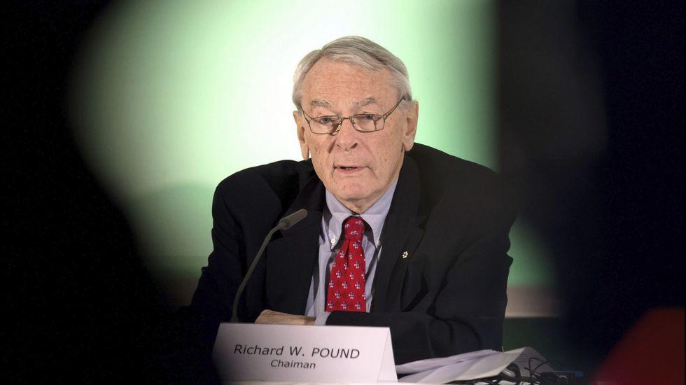 El presidente de una comisión independiente de la Agencia Mundial Antidopaje (AMA), Richard Pound.