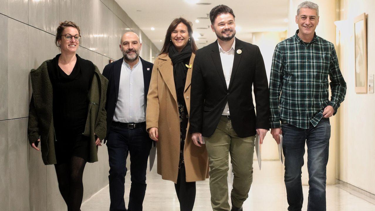 Mireia Vehí (CUP), Néstor Rego (BNG), Laura Borràs (Junts), Gabriel Rufián (ERC) y Oskar Matute (EH Bildu)  promovieron la semana pasada una comisión de investigación sobre el rey emérito que no prosperó