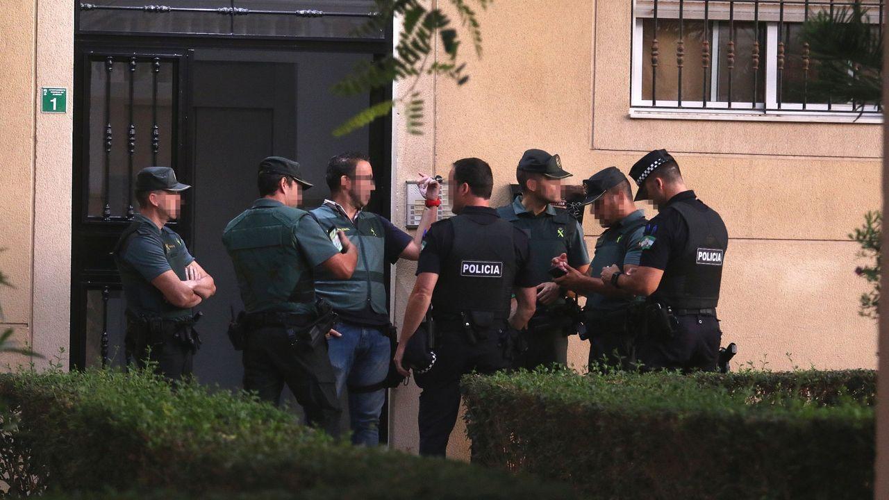 carbón, minerales, Gijón.Registro policial el pasado octubre de la vivienda de la presunta homicida