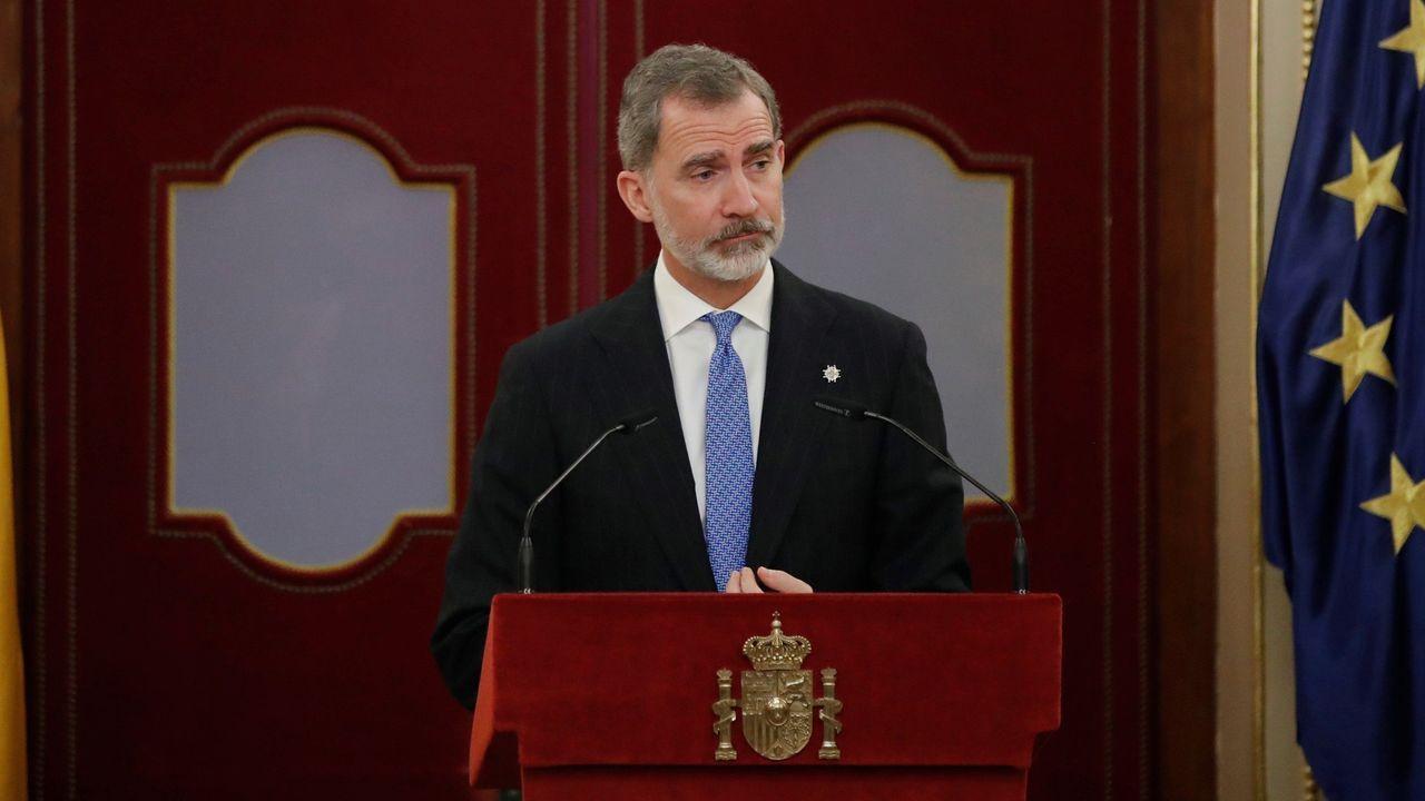 Felipe VI, en el acto para recordar la derrota del golpe de Estado del 23F