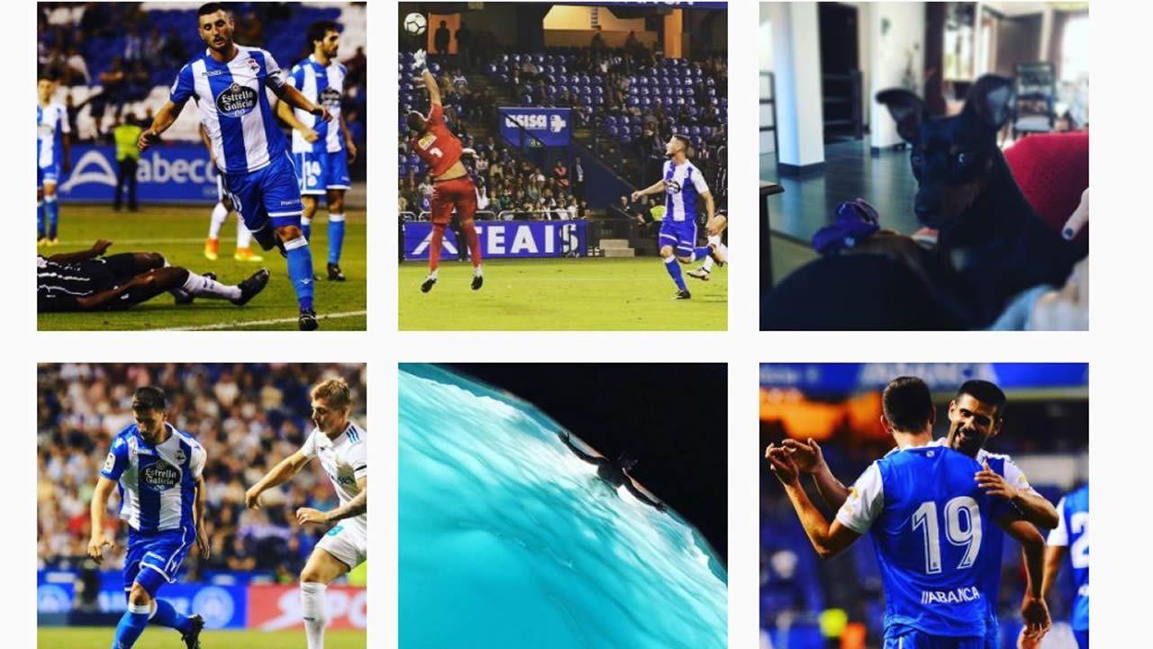 Çolak se recupera para Girona.Instagram del jugador del Dépor Borja Valle
