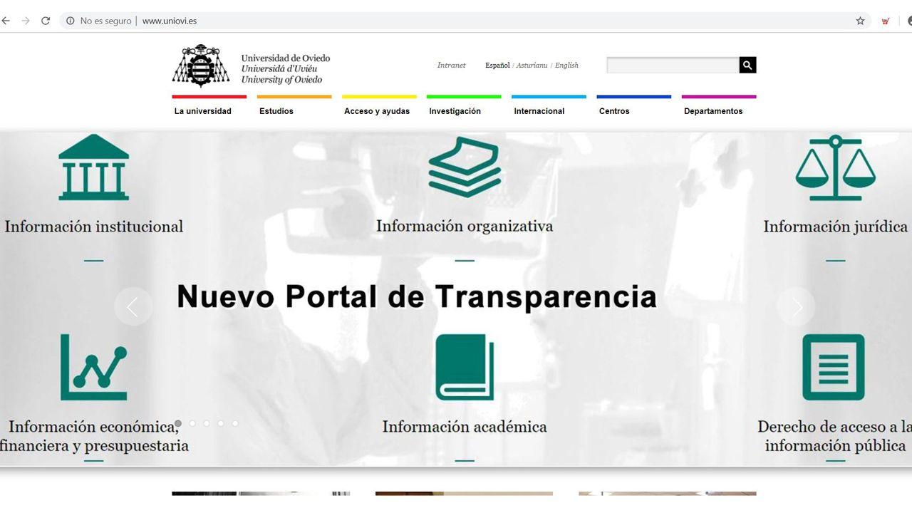 La élite de la justicia asturiana.Nueva página web de la Universidad de Oviedo