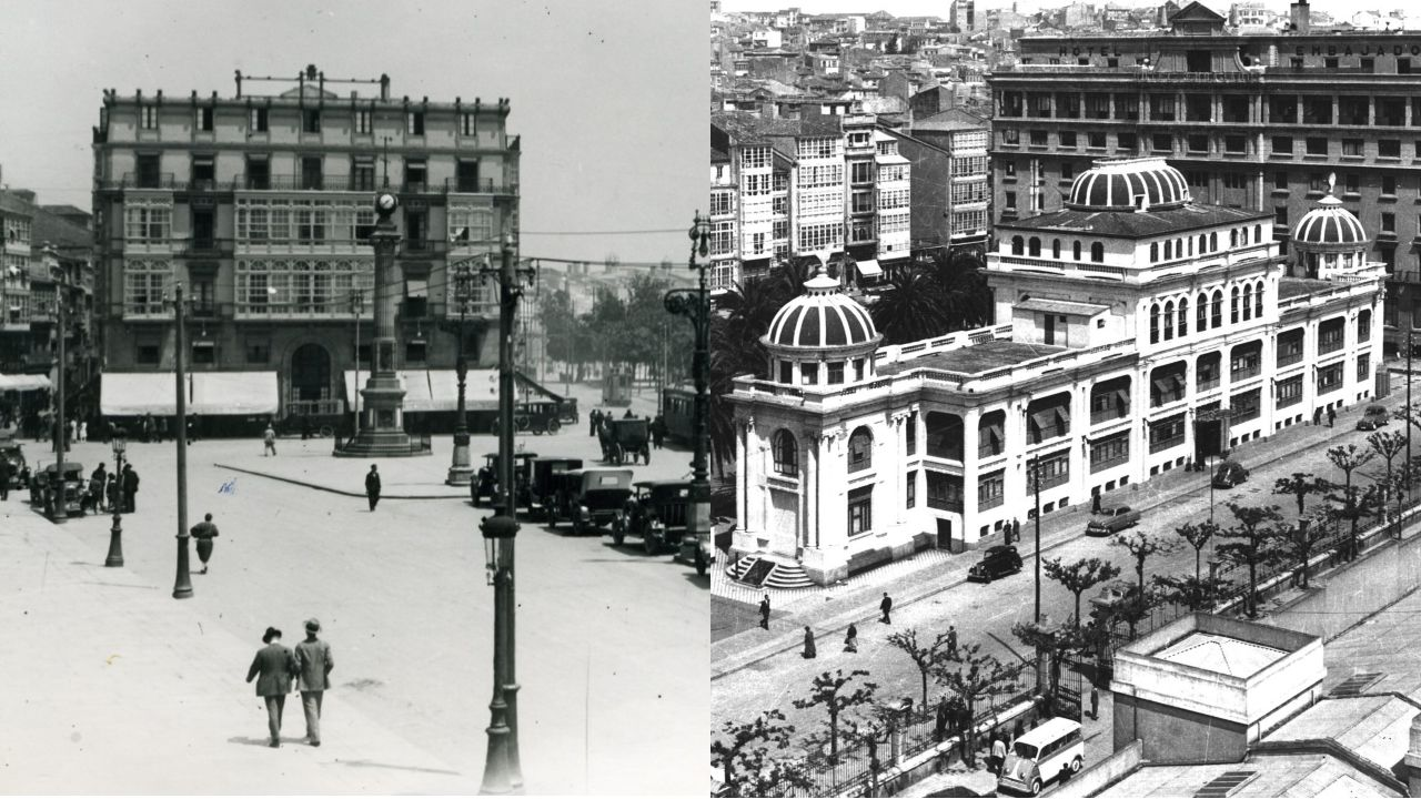 DoubleTree de A Coruña: entramos en el primer hotel Hilton de Galicia.A la izquierda, el hotel Palace, situado frente al Obelisco, era el lugar en el que se daban cita los conservadores de la época. A la derecha, el Atlantic, el establecimiento escogido por la gente de la izquierda moderada