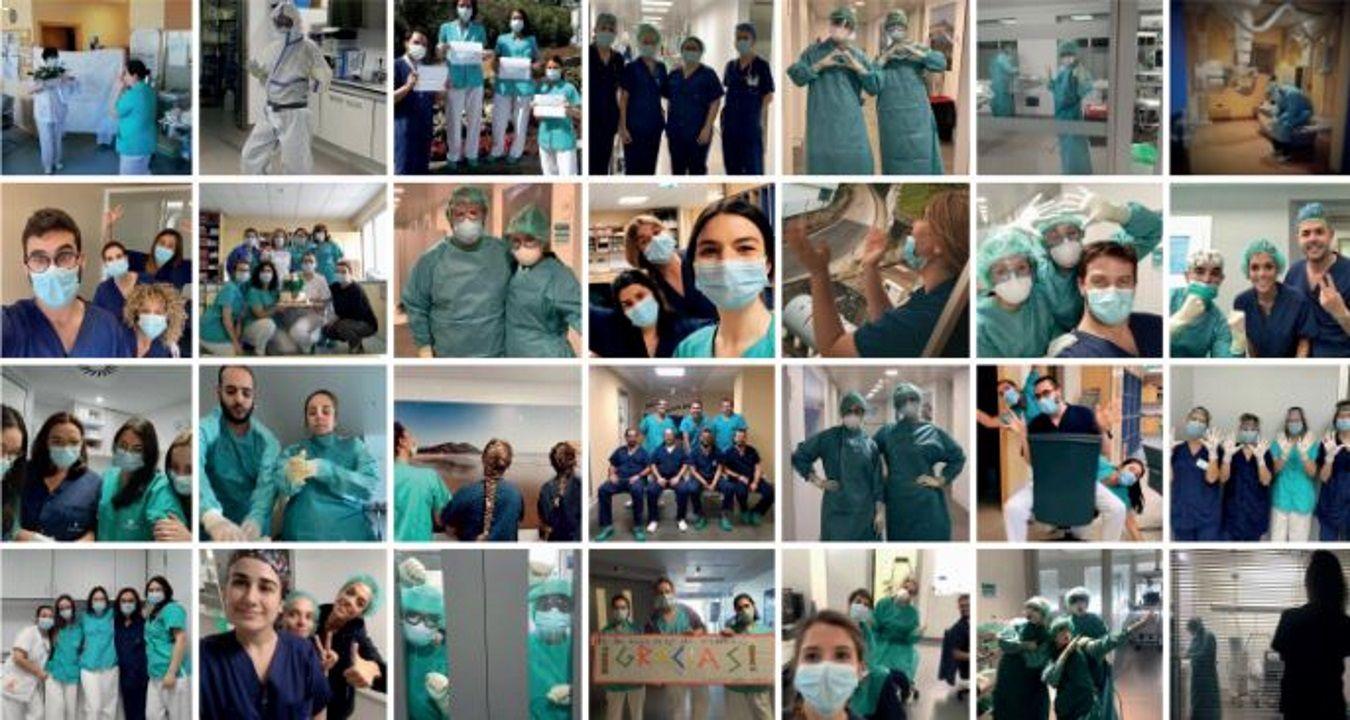 Exposición homenaje a la enfermería en el Hospital Quirón de A Coruña