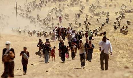La llegada del Estado Islámico obligo a los yazidíes a huir de su tierra, Sinyar