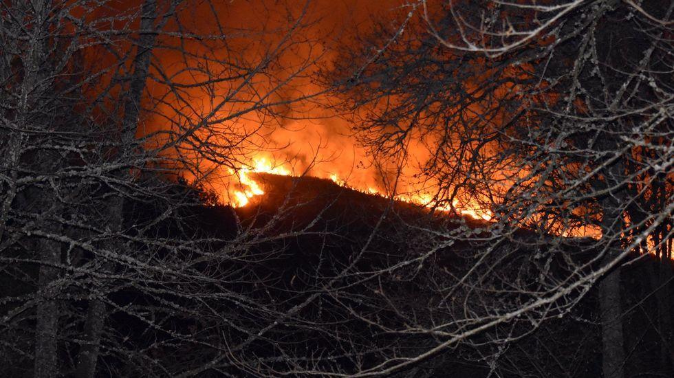 El incendio, a las diez y media de la noche de este miércoles, día 1 de enero