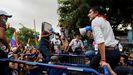 ECUADOR.Yaku Perez habla a sus partidarios ante el Colegio Electoral Nacional  en Guayaquil