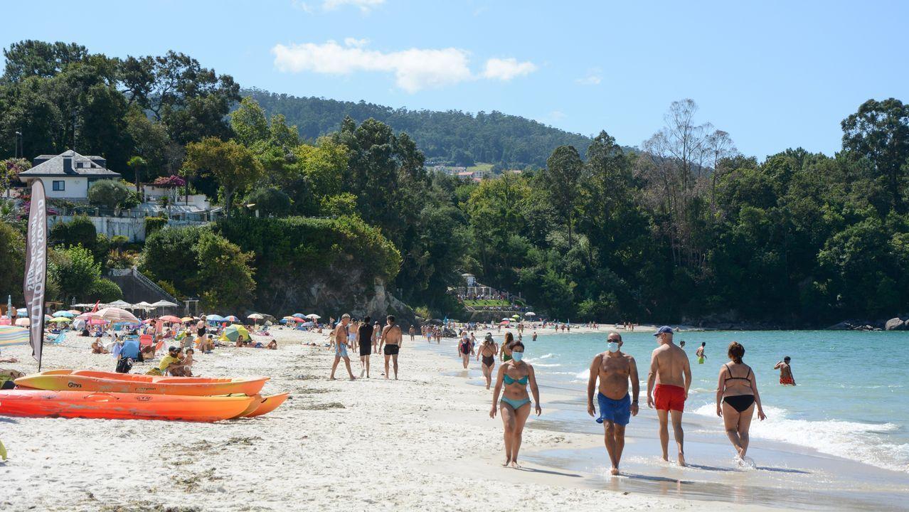 Instalaciones del cámping Valdoviño, que se resintió en julio de la ausencia de turistas extranjeros ligados al surf