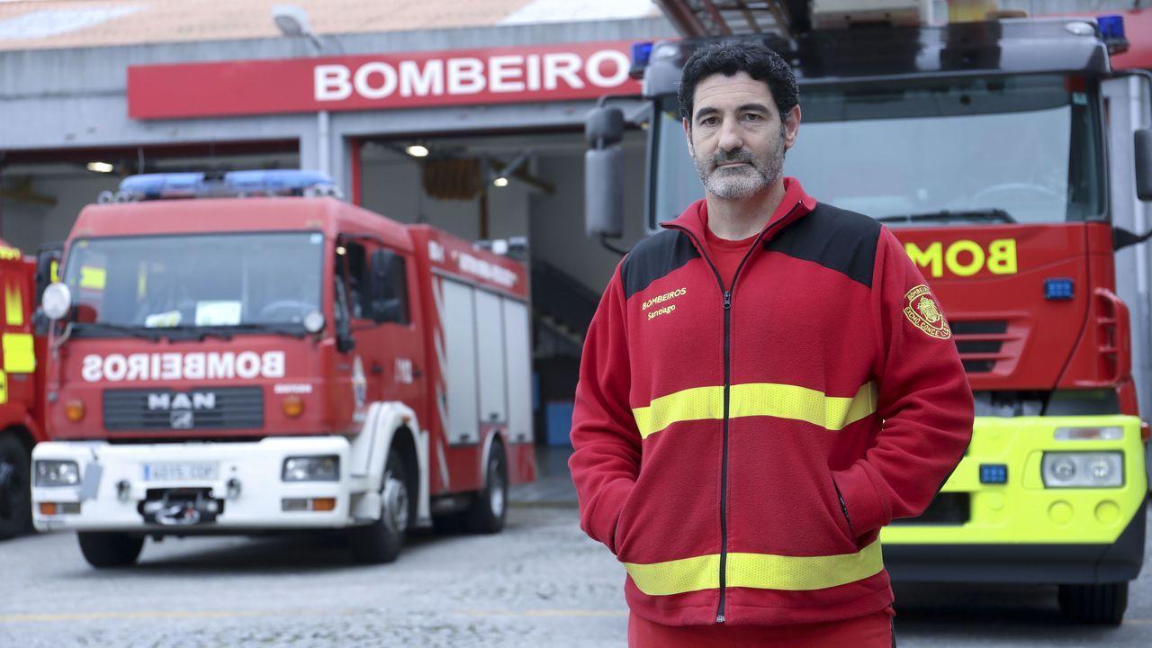 José Vallejo, miembro del Cuerpo de Bomberos de Santiago