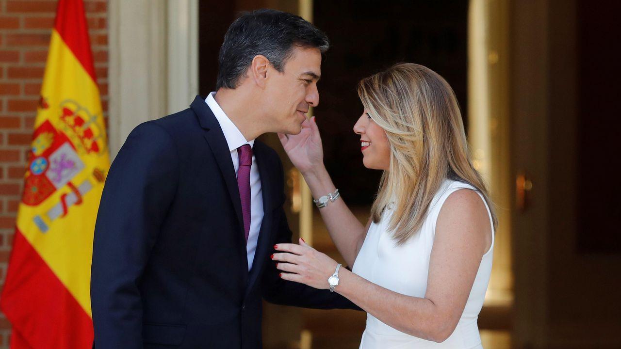 Pedro Sánchez recibe a Susana Díaz en la Moncloa