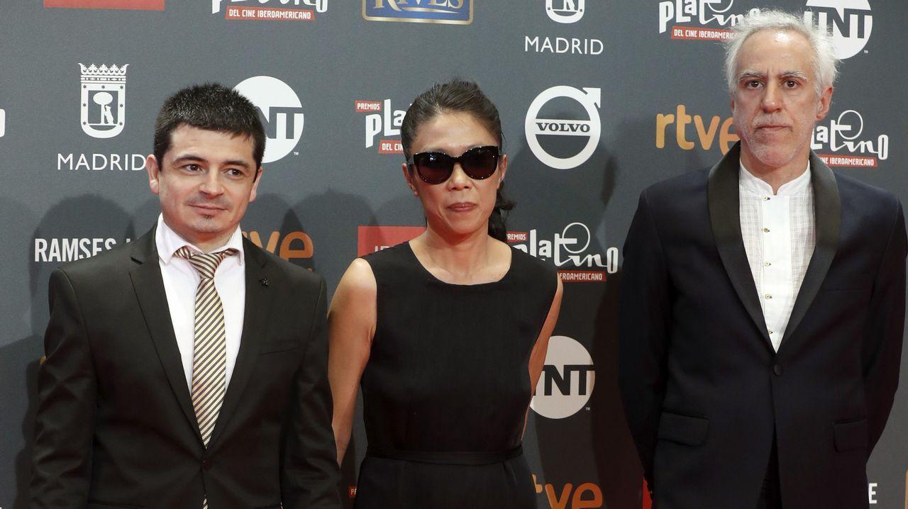 La directora de arte Ailí Chen, el compositor Mariano Loiácono y el director de fotografía Guillermo Nieto