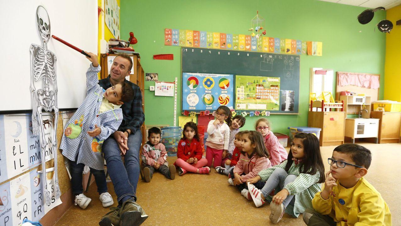 Imaxe de arquivo dunha clase de educación infantil no colexio de Alfoz
