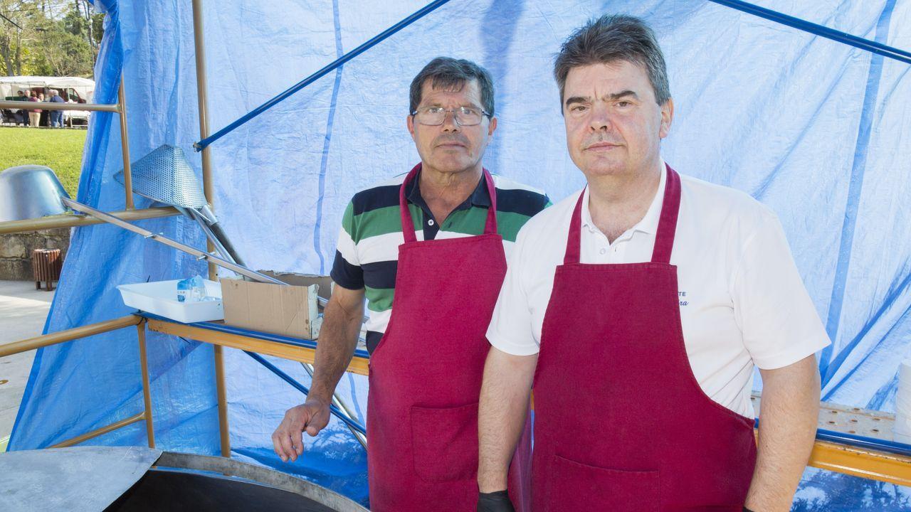 Los más mayores de la celebración: Rogelio Rey y Eliseo Bello, de 91 y 90 años.