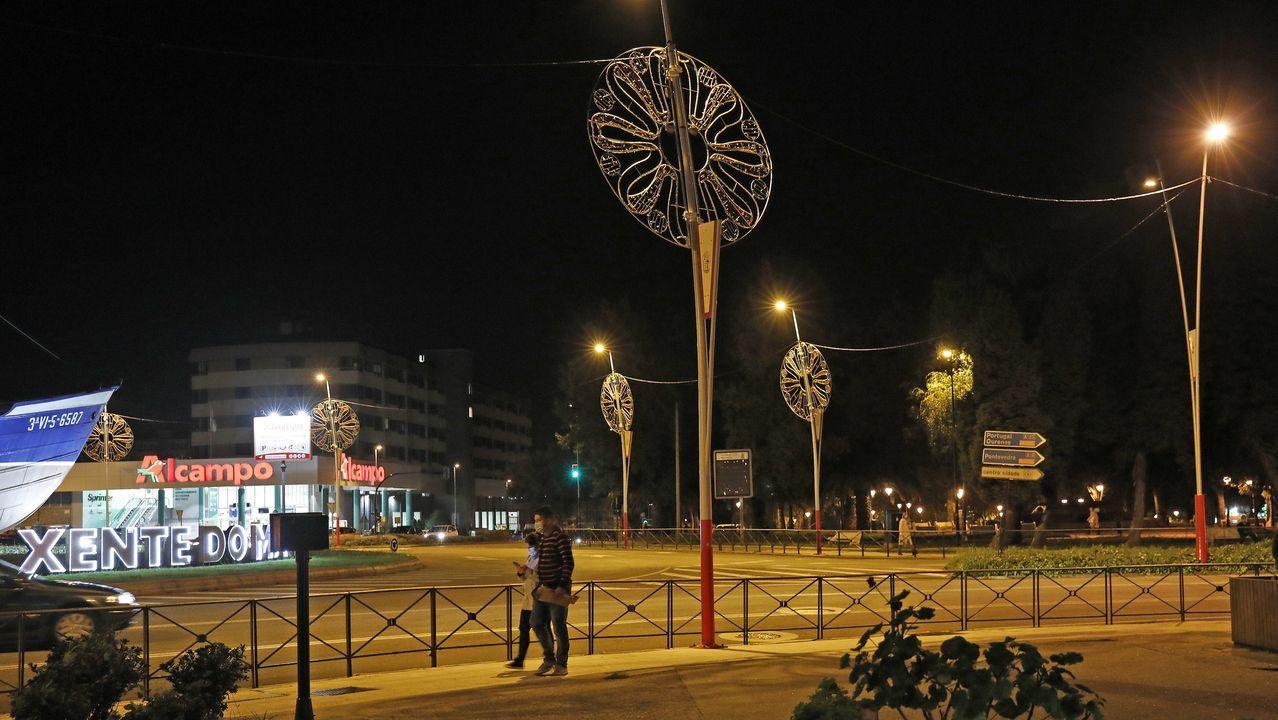 Desde septiembre ya hay luces navideñas instaladas en varias zonas de Vigo